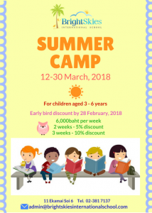 Summer Camp 12-30 Mar