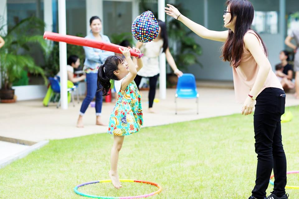 play time outside at Bright Skies International School