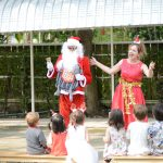 Father Christmas is welcomed by head of school at Bright Skies