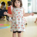 young girl in flowery dress at pre school in thonglor
