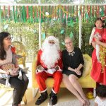 Teachers at bright Skies internationl school with Santa