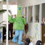 Bright Skies international school Bangkok school mascot entertaining the children