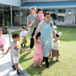 young children taking part in international day at school