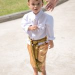 Young boy in Thai National costume