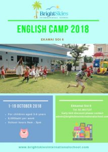 english camp for children aged 3 to 6 years in Bangkok