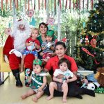 expat toddlers meet Santa at school in Bangkok