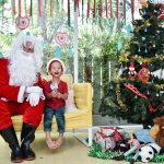 Jolly Santa with one of our students at Bright Skies preschool thonglor