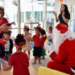 Santa visits Bright Skies international kindergarten school