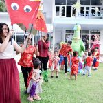 CNY parade at school in Ekamai Thonglor