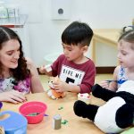 Role play time at Bright Skies preschool