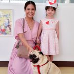 pet dog joins the valentines day celebrations at pre-school