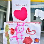 we love nature painting for valentines day at pre-school