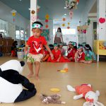 learning about love at Bright Skies International pre school